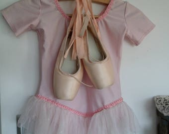 Ballet shoe dance and her leotard, romantic decor, point dance, pair of shoe, classic ballet slipper sylphid