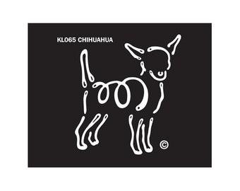 Chihuahua K Lines Dog Car Window Decal Sticker