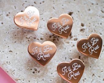 It'll Be Reet Enamel Pin - northern pin - english pin - yorkshire gift - england gift - heart pin - text pin - northern phrase