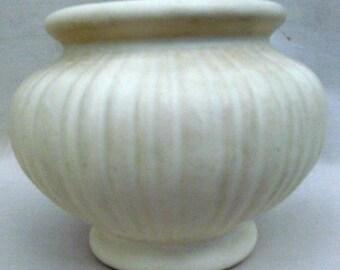Vintage Matte White Art Pottery Vase