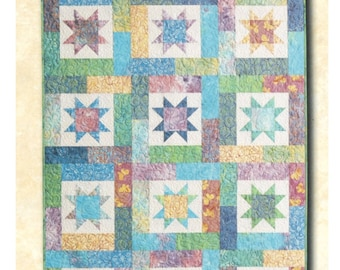 Lucky stars fat quarter quilt pattern by Atkinson designs