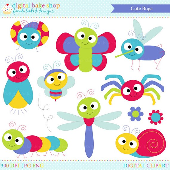 bugs clipart insects clip art ladybug lady bug bee butterfly