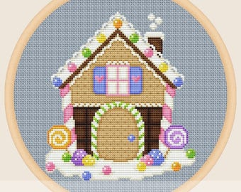 Gingerbread house - Cross stitch pattern