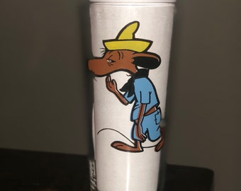 "1973 Rare Vintage 1973 Pepsi Looney Tunes ""Slow Poke Rodriguez"" glass, black lettering"