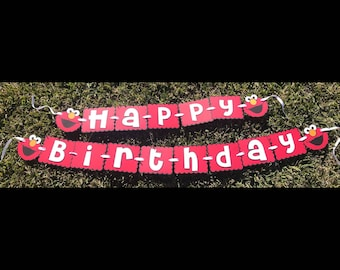 Elmo Birthday Banner... happy birthday banner...elmo party banners..Elmo ONE banner...Elmo I am one birthday banner.