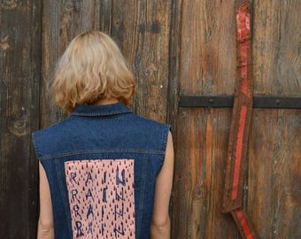 RAIN - Redesigned Denim 90s Vest