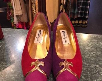 3 colors Small heel Pump