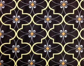 Windham BROWN CAFE DIAMONDS 100% Cotton Fabric for Quilting - sold by 1/2 yard