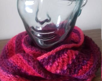 Pink Multi Twisted Cowl