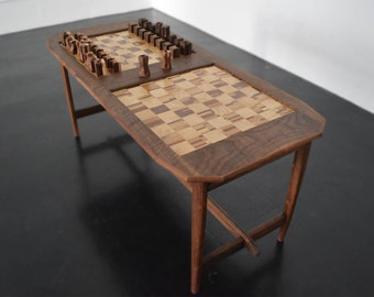 Coffee Table Featuring A Double Chess Board