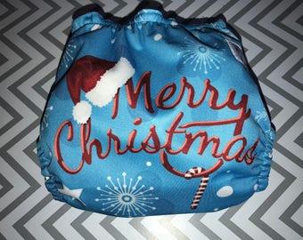 Merry Christmas Cloth Diaper Cover