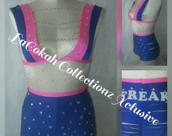 High waist Pink and Blue set