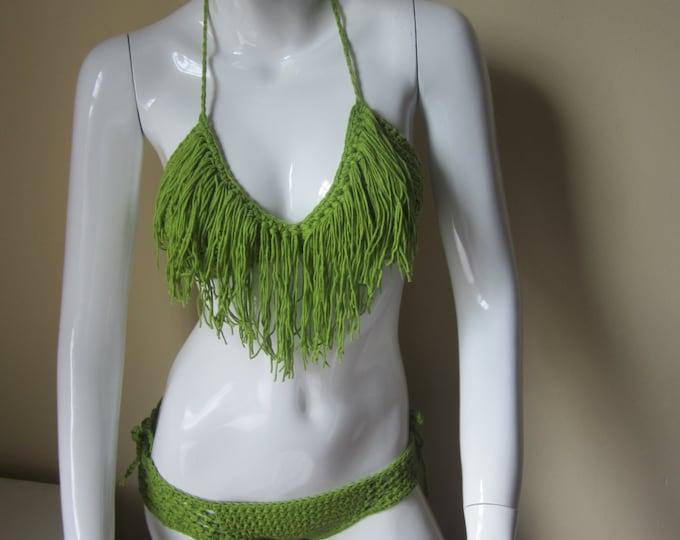 Crochet Fringe bikini set, fringe bikini, crochet swimwear, crochet bikinis, Fringe swimwear,  Fringe swimsuits, Fringe bathing suits,