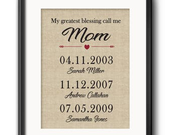 Personalized Gift for Mom, Wife Christmas Gift, Mother's Day From Daughter, Christmas Gift for Mom, Gift from Son, Gift for Wife, Any size