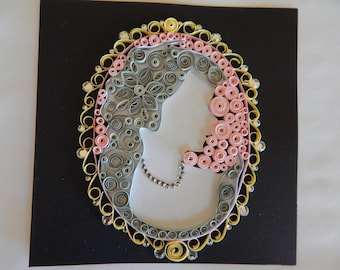Handmade Cameo Quilled Card