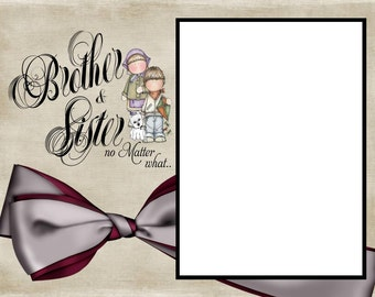 Brother and Sister 8x6 Picture Frame