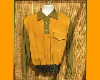 Vintage 1940s / 50s two tone Gaucho shirt