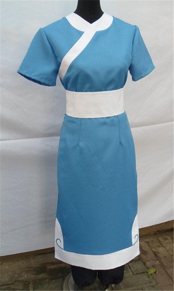 & Avatar Cosplay Complete Katara Custom Made Costume