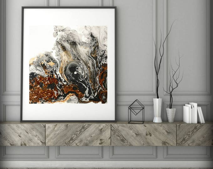 Fine Art Print of Original Contemporary Modern Abstract Painting, Modern, Vibrant, Minimalist, Gift for Boss, Unique Art Gift for Girlfriend