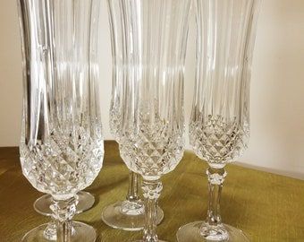 Fabulous set of (6) Waterford crystal champagne flutes