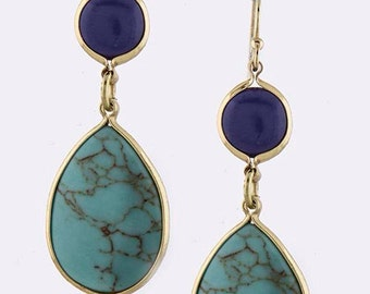 Lapis and Turquoise Earrings