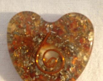 Orgone  EMF Protector/Positive Energy Generator Heart