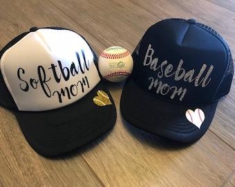 Baseball Mom Trucker Hat, Softball Mom, Trucker Hat, Baseball Mom, Softball Mom Hat | Sports Mom Hat | Team Mom Gift | Baseball Life