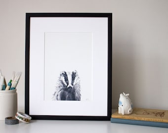 Badger - unframed print