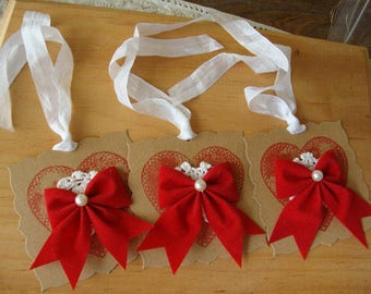 valentine's day gift tags hearts paper ornaments gift wrap embellishments kraft party favors tags package ties shabby chic tag ornament