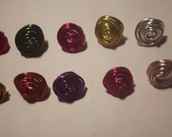 Ring made of aluminum wire. Color choice