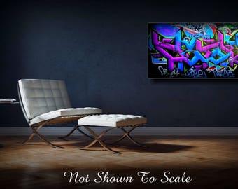 Large Wall Art, Large Canvas Art, Graffiti Art, Graffiti Canvas, Canvas Art, Large Wall Art, Graffiti Art Canvas, Graffiti Wall Art