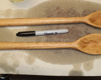 Red Oak,  Wooden Spoons handmade.