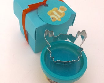 Under The Sea Party Favor: Playdoh With Crab Cutter In A Decorative Box - Ocean Favor