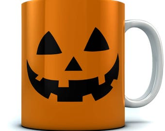 JACK O' LANTERN Pumpkin Face Halloween Coffee Mug