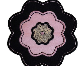 """Camellia Flower Appliques Machine Embroidery Designs Applique Patterns in 4 sizes 3"""", 4"""", 5"""" and 6"""""""