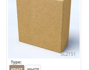 Kraft or White Box: (50 boxes) 3.25 in x 1.25 in x 3.24 Small Box, Natural Box, Wedding Favor Box, Baby Shower Favors, Bridal Favors