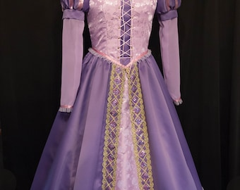 NEW Design! RAPUNZEL Tangled Costume ADULT Custom Size
