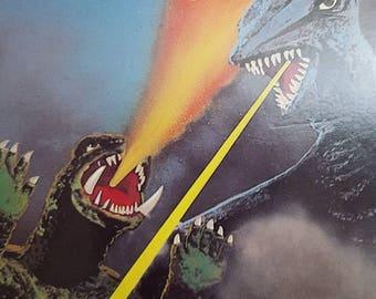 "Vintage VHS SciFi Cult Shlock Classic Animated Vampire Super Bat & Turtle Monsters Feature Creature Movie Film Tape ""Gamera vs Gaos"" 1967/87"