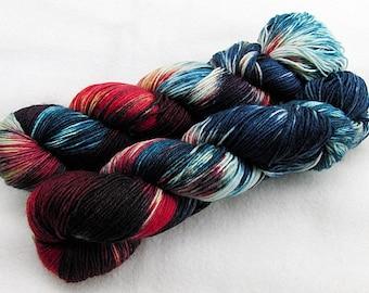 Handdyed SockYarn, 75 Wool, 25 Polyamid 100g 3.5 oz. Nr. 732