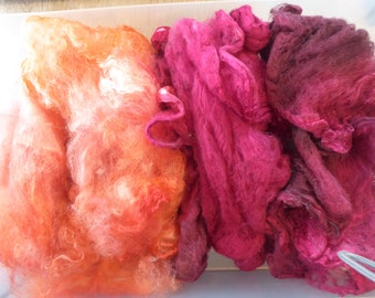 Hope Jacare - Just gorgeous approx 25g hand dyed silk hankies SH63