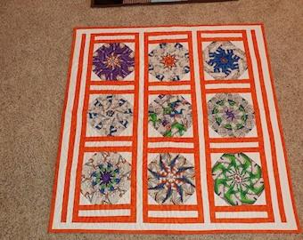 "Baby Quilt ""Kaleidoscope- dinos&children at play"""