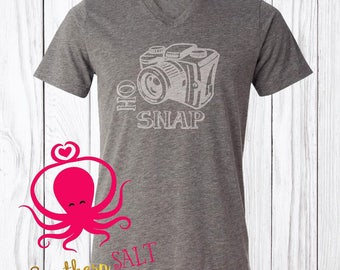 Oh Snap Adult Photographer T Shirt - Camera Shirt - Photography Shirt