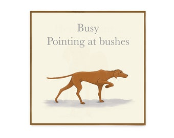 Pointing Vizsla greeting card with envelope blank inside for dog lovers
