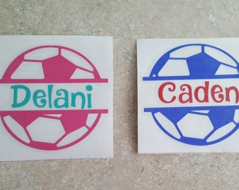 Personalized Soccer Ball Yeti Decal