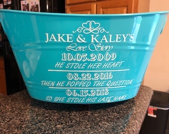 Personalized and customized tub