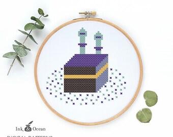 Makkah, Hajj, Kabbah  cross stitch pattern, PDF instant Download