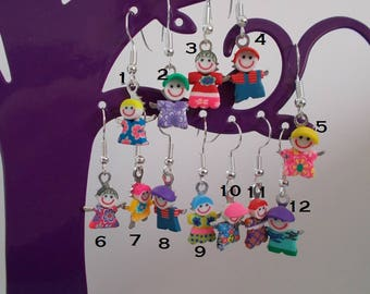 Funny boy or girl SNOWMAN Earring: Unity, compose your pair