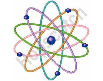 Atom Model - Machine Embroidery Design