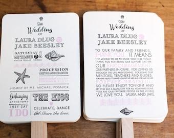 Beach Wedding Program Fan Kit, Destination Wedding Program Fan, Wedding Fan, Custom Wedding program fan, Order of Service Fan, Hand Fan
