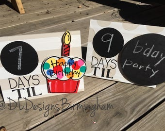 Inventory SALE Countdown days til frame christmas or birthday countdown